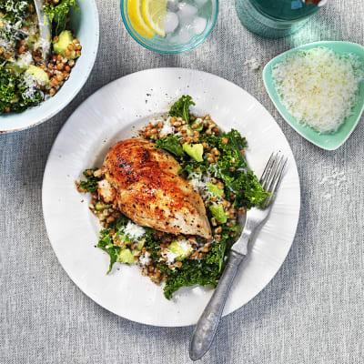 Bild på Kyckling med grönkålssallad