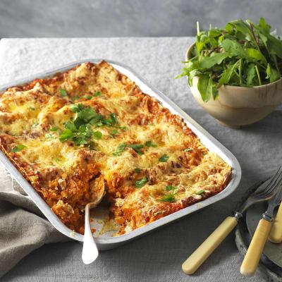 Bild på Lasagne med röda linser