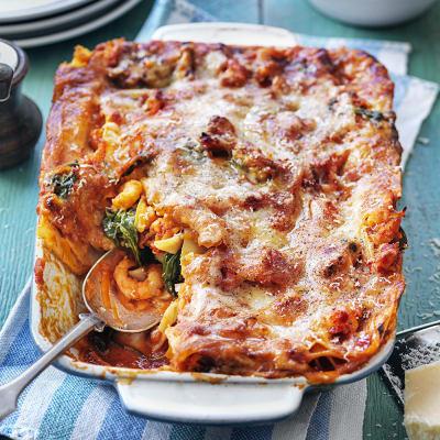 Bild på Lasagne med räkor och kräftstjärtar