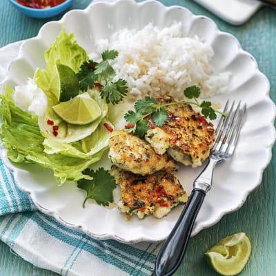 Bild på Asiatiska fiskbiffar med ris