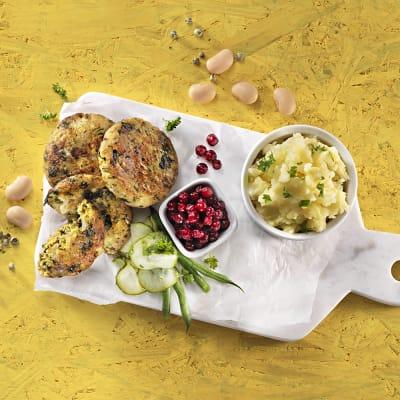 Bild på Bönbiffar med picklad blomkål