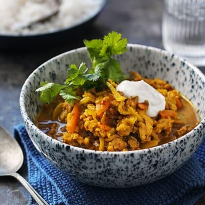 Bild på Indisk curry på kycklingfärs