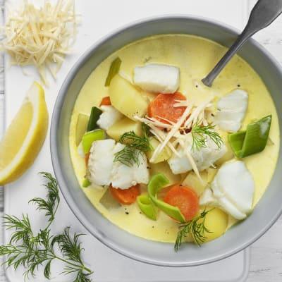 Bild på Soppa med torsk och pepparrot