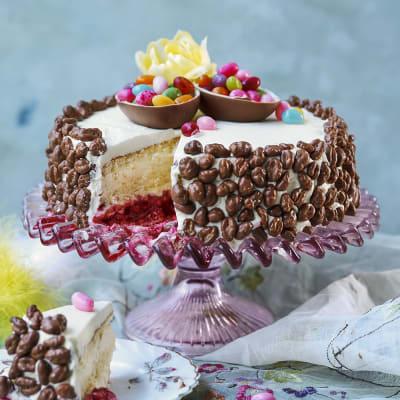 Bild på Tårta med citron och hallon