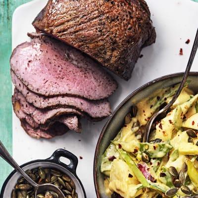 Bild på Rostbiff med currypotatissallad