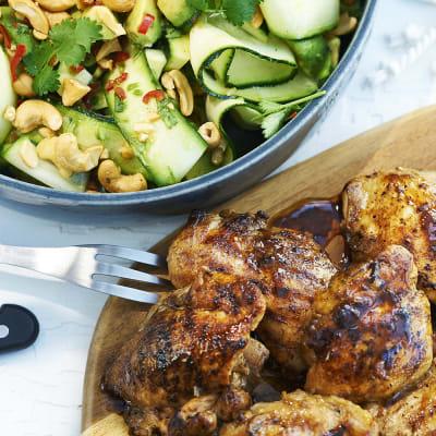 Bild på Grillad kyckling med grön asiatisk sallad