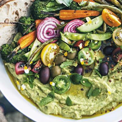Bild på Hummus harvest bowl