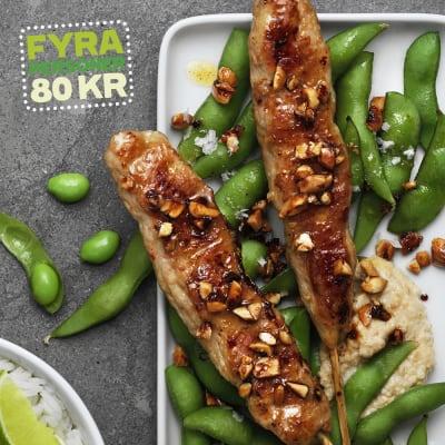 Bild på Lotta Lundgren - Kycklingspett med sticky rice