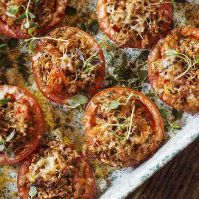 Bild på Fyllda tomater med parmesan och kyckling