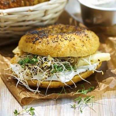 Bild på Bagels med sötpotatis
