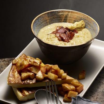 Bild på Linssoppa med fläsk och äppelpannkaka