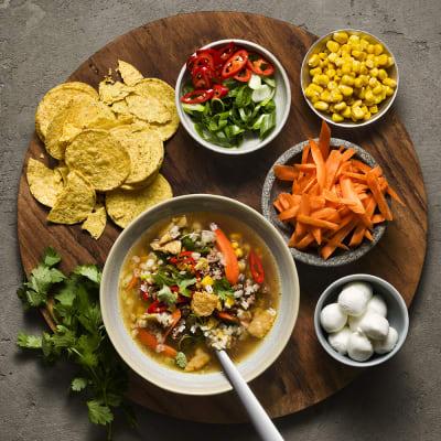Bild på Köttfärssoppa tacostyle
