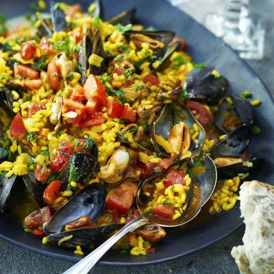 Bild på Risotto med musslor och saffran