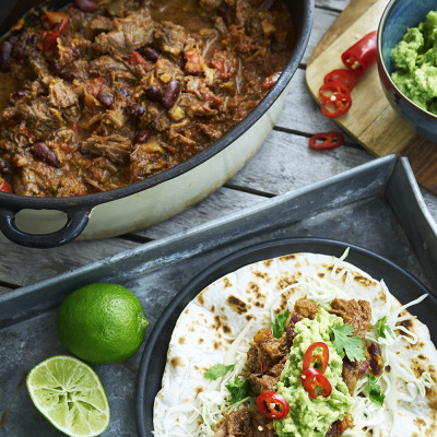 Bild på Slowcooked beef taco style