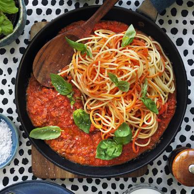 Bild på Köttfärssås med gömda grönsaker