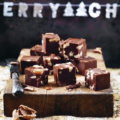 Bild på Valnöts- och chokladfudge