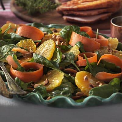 Bild på Spenat- och apelsinsallad med brynt smör- vinägrett