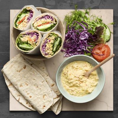 Bild på Wrap med curryröra på tofu