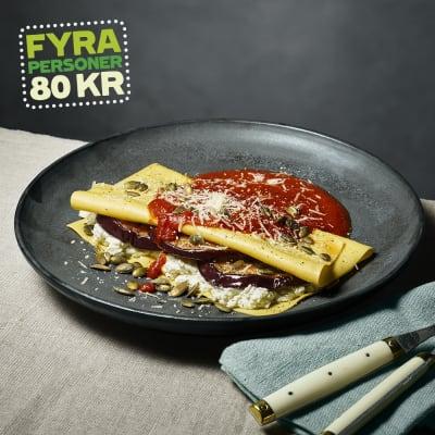 Bild på Lotta Lundgren - Öppen lasagne med ricotta och aubergine