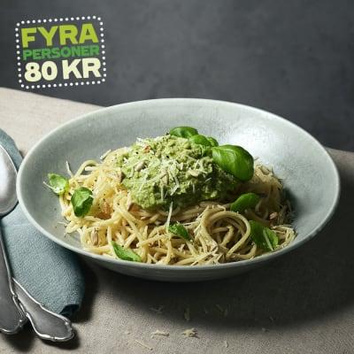 Bild på Lotta Lundgren - Spaghetti med kronärtspesto