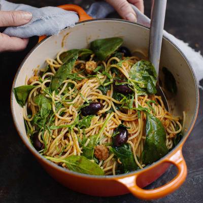 makrill i tomatsås pasta