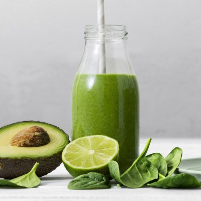 smoothie grönkål avokado