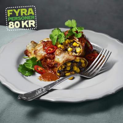Bild på Lotta Lundgren - Enchiladas med refried beans