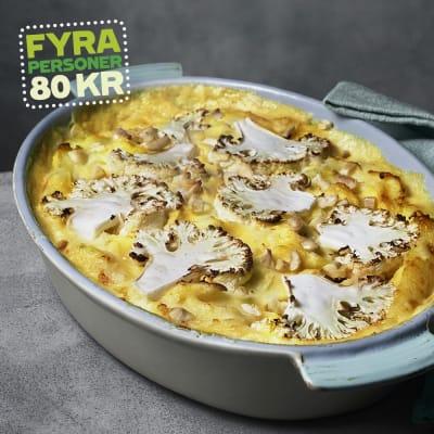 Bild på Lotta Lundgren - Fiskgratäng med rostad blomkål och mandel