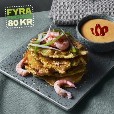 Bild på Lotta Lundgren - Okonomiyaki med räkor