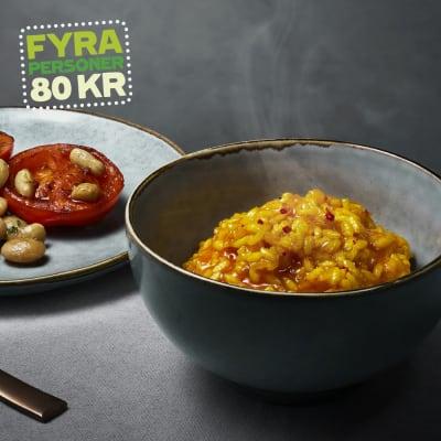 Bild på Lotta Lundgren - Saffransrisotto med tomat- och bönsallad