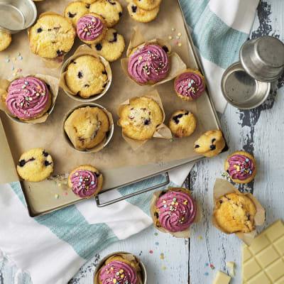 muffins vit choklad
