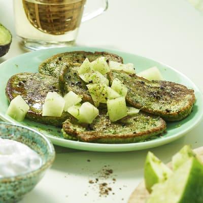 Bild på Gröna plättar med spenat och kardemumma