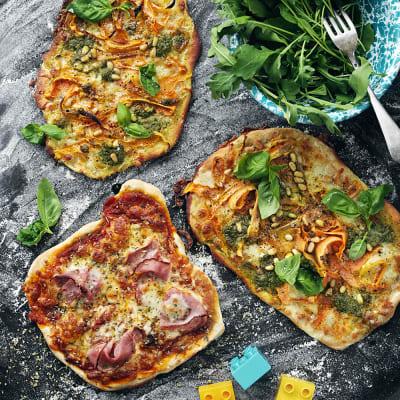 Bild på Pizza med olika topping