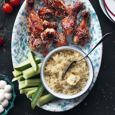 Bild på Kycklingklubbor med blomkålsrisoni