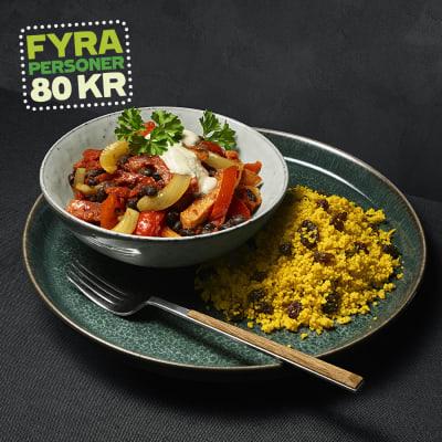 Bild på Korvgryta med kryddig couscous
