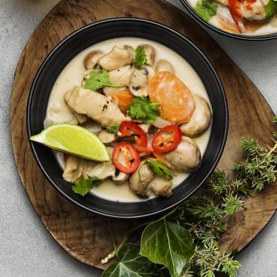 Bild på Thaigryta med mifustrimlor