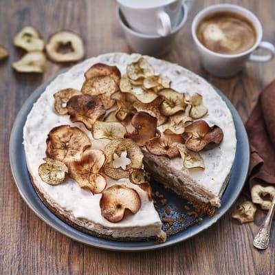 Bild på Äppel- och kanelcheesecake med äppelchips