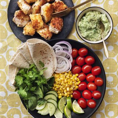 Bild på Pankopanerad fisk taco style
