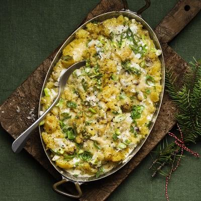 Bild på Gratäng med potatis, ägg och anjovis