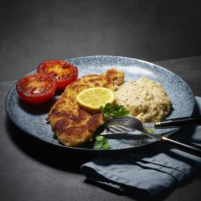 Bild på Skinkschnitzel med rostat vitkålsmos