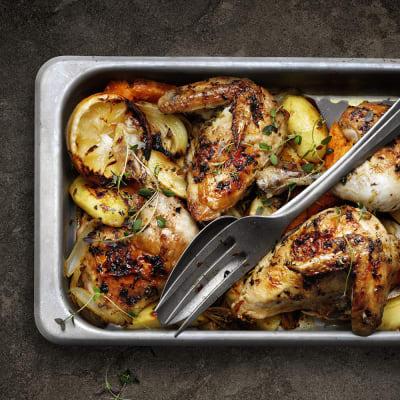 Bild på Lotta Lundgren - Kyckling i ugn med citron och rostade rotfrukter