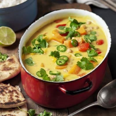 Bild på Sötpotatisgryta med curry och mango chutney