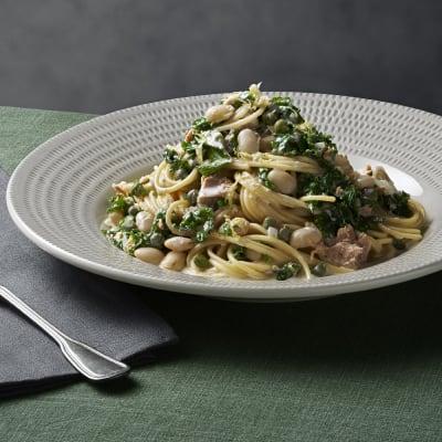 Bild på Spaghetti med tonfisk och grönkål