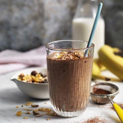 Bild på Banan-och chokladsmoothie