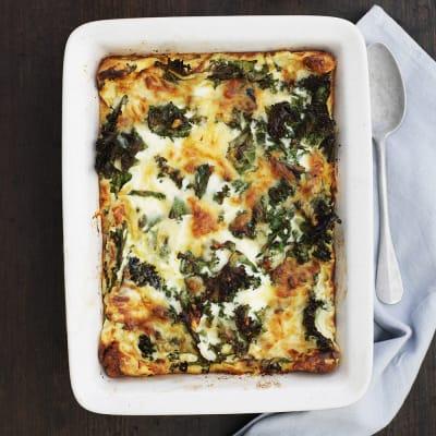 Bild på Ugnspannkaka med grönkål och ost