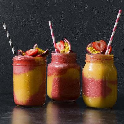 Bild på Mango- och jordgubbsslush