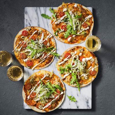 Bild på Vegetarisk tortillapizza