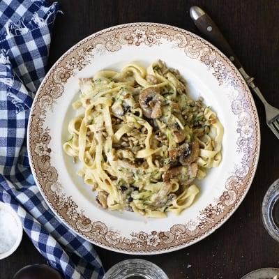 Bild på Zucchini- och svamppasta