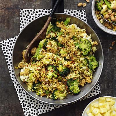 Bild på Stekt ris med kycklingfärs och curry