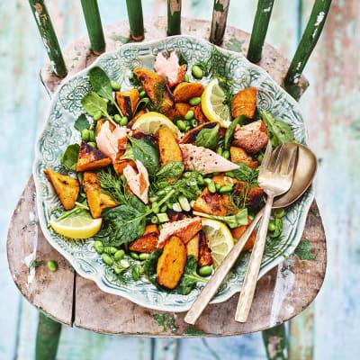 Bild på Rostad sötpotatissallad med dill och citron